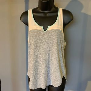 like new Urban Outf BDG grey/cream/green top 6/$14